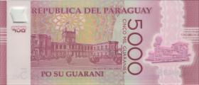 Paraguay P.234b 5000 Guaranies 2017 (2018) Polymer (1)