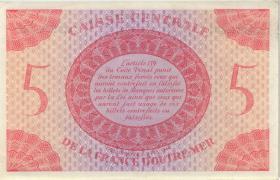 Frz.-Äquatorialafrika / F.Equatorial Africa P.15b 5 Francs L.1944 (1-)