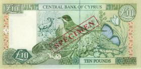 Zypern / Cyprus P.59s 10 Pounds 1.2.1997 Specimen (1)