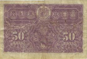 Malaya P.10b 50 Cents 1941 (3-)