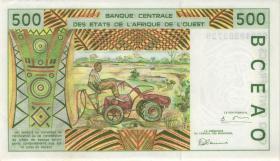 West-Afr.Staaten/West African States P.110Aj 500 Francs 1999 Elfenbeinküste (1)