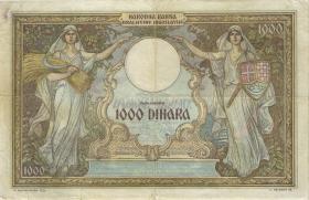 Jugoslawien / Yugoslavia P.R15 1000 Dinara 1931 (1941) (3+)