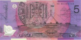 Australien / Australia P.51b 5 Dollars (19)95 Polymer Fehldruck (1)