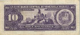 Venezuela P.45g 10 Bolivares 1970 (3)