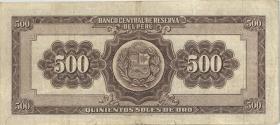 Peru P.080b 500 Soles 1961 (3)