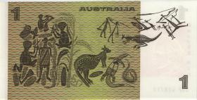 Australien / Australia P.42 1 Dollar (1976) DBP thick paper 1. issue (1)