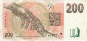 Tschechien / Czech Republic P.19c 200 Kronen 1998 E (1)