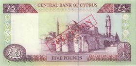 Zypern / Cyprus P.58s 5 Pounds 1.2.1997 (1)