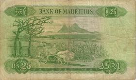 Mauritius P.32b 25 Rupien 1967 (3-)