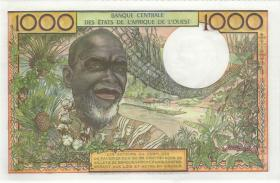 West-Afr.Staaten/West African States P.703Kn 1000 Francs (1959-65) (1)