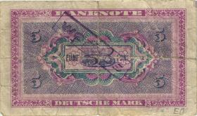 """R.236F 5 DM 1948 zeitgenössische Fälschung (4) """"Wertlos"""""""