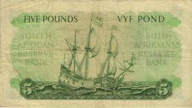 Südafrika / South Africa P.097c 5 Pounds 1955 (Afrikaans) (3)