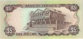 Jamaika / Jamaica P.70e 5 Dollars 1992 (1)