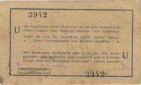 """R.916n: 1 Rupie 1915 U 4-stellig (1/1-) """"3942"""""""
