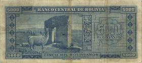 Bolivien / Bolivia P.145 5000 Boliviano L. 1945 (3)