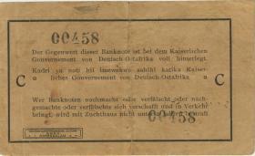 """R.916d: Deutsch-Ostafrika 1 Rupie 1915 C (3+) """"Seidenschwarz"""""""