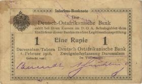 R.929s: 1 Rupie 1916 R3 Datumszeile Typ 2 (2)