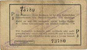R.929i: Deutsch-Ostafrika 1 Rupie 1916 P3 korrigierte Nummer (2)