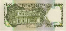 Uruguay P.062c 100 Nuevos Pesos (1985) Serie E (1)