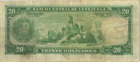 Venezuela P.46e 20 Bolivares 1970 (3-)