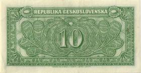Tschechoslowakei / Czechoslovakia P.60a 10 Korun (1945) (2)