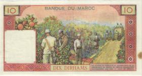 Marokko / Morocco P.54d 10 Dirhams 1963 (3+)
