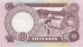 Nigeria P.14c 50 Kobo (1973-78) (2+)
