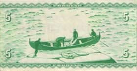 Färöer Inseln / Faeroe Is. P.13b 5 Kronen 1949 (1951-60) (3)