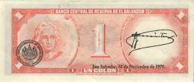 El Salvador P.110a 1 Colon 1968 (2)
