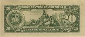 Venezuela P.43F 20 Bolivares 1966 Fälschung (2)