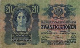 Tschechoslowakei / Czechoslovakia P.002 20 Kronen 1919 (3)