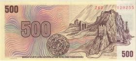 Tschechien / Czech Republic P.02c 500 Kronen (1993) Z Kuponausgabe (1)