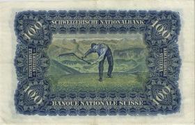 Schweiz / Switzerland P.35s 100 Franken 1945 (3+)