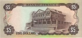 Jamaika / Jamaica P.66 5 Dollars (1984) (1)