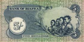 Biafra P.3a 5 Shillings (1968-69) (2)