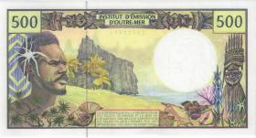 Frz. Pazifik Terr. / Fr. Pacific Terr. P.01h 500 Francs (2012-) (1)