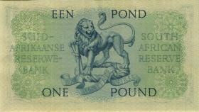Südafrika / South Africa P.093e 1 Pound 28.4.1959 (Africaans) (2+)