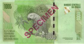 Kongo / Congo P.101bs 1000 Francs 2013 Specimen (1)
