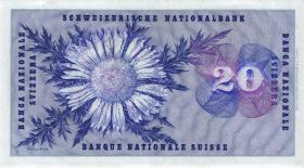 Schweiz / Switzerland P.46p 20 Franken 1968 (1-)