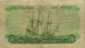 Südafrika / South Africa P.096a 5 Pounds 9.4.1952 (Englisch) (3-)