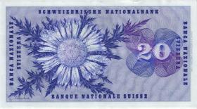Schweiz / Switzerland P.46u 20 Franken 1973 (1/1-)