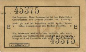 """R.918a: 1 Rupie 1915 E (1/1-) """"Seidenschwarz"""""""