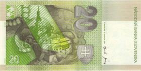 Slowakei / Slovakia P.20e 20 Kronen 2001 (2)