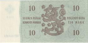Finnland / Finland P.100 10 Markkaa 1963 (1)