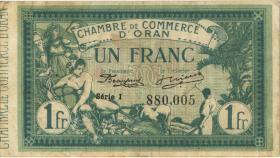 Algerien / Algeria 1 Franc 1918 Chambre de Commerce d'Oran (3+)
