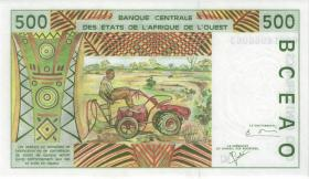 West-Afr.Staaten/West African States P.310Ck 500 Francs 2000 Burkina Faso (1)
