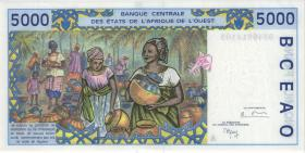 West-Afr.Staaten/West African States P.113Ah 5.000 Francs 1998 (1/1-)