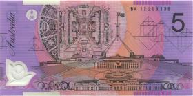 Australien / Australia P.57g 5 Dollars (20)12 BA 12 Polymer (1) first prefix