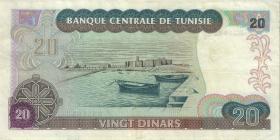 Tunesien / Tunisia P.77 20 Dinars 1980 (3+)