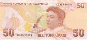 Türkei / Turkey P.225c 50 Lira 2009 (2018) (1)
